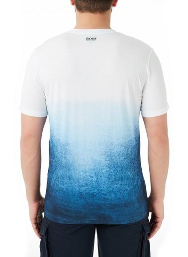Hugo Boss  % 100 Pamuklu Bisiklet Yaka T Shirt Erkek T Shırt 50450919 100 Beyaz